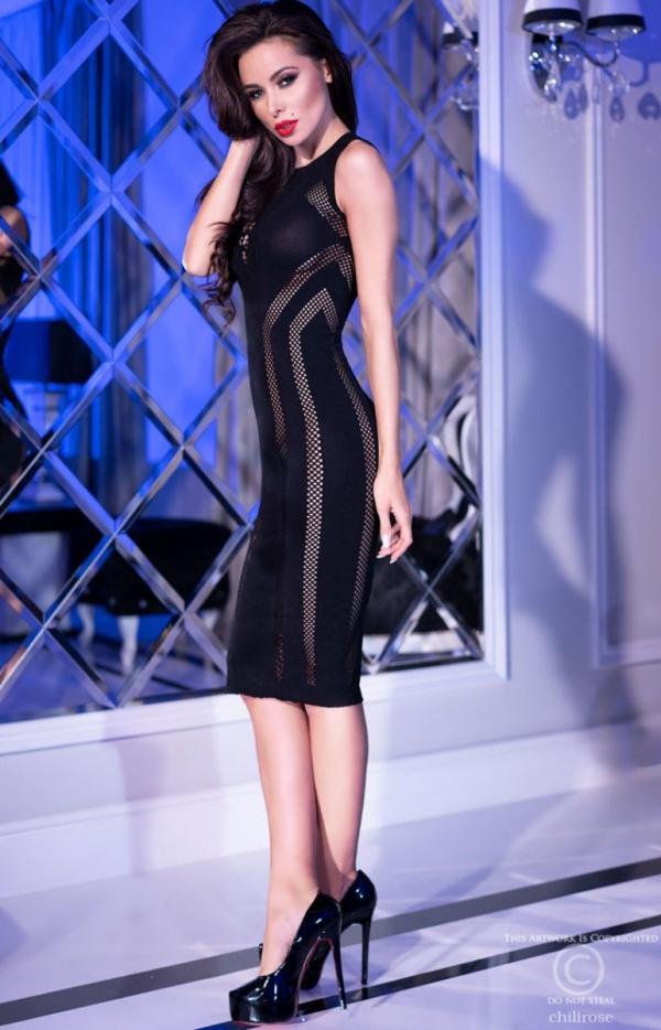 Ołówkowa sukienka erotyczna 4300 tył