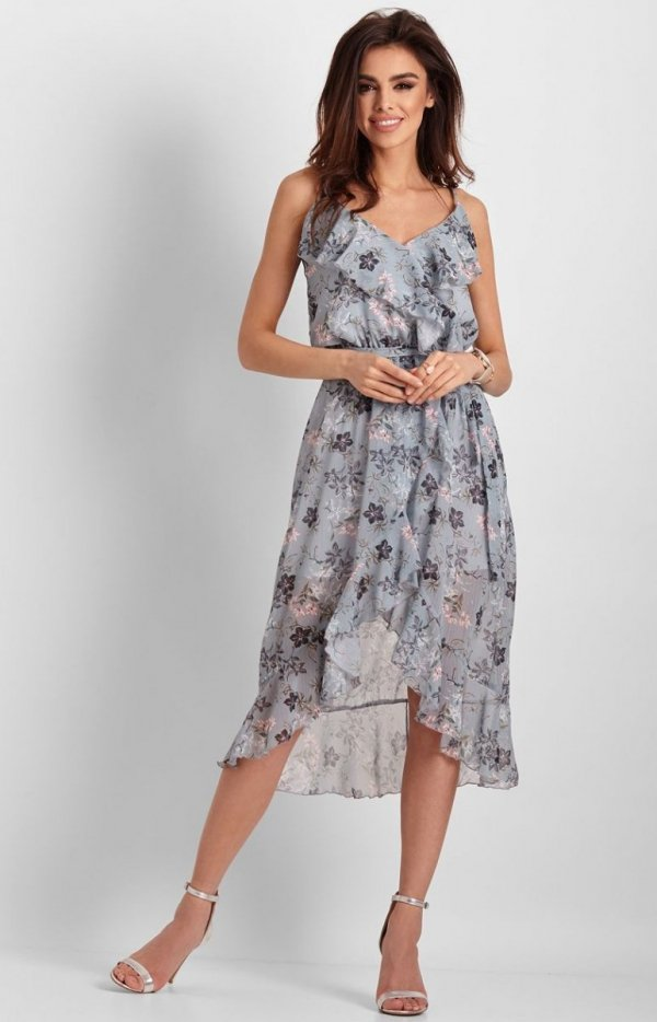Letnia sukienka midi w kwiaty Chantal-3