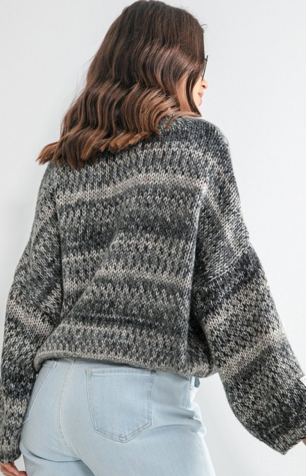 Oversizowy sweter multikolot F1163 tył