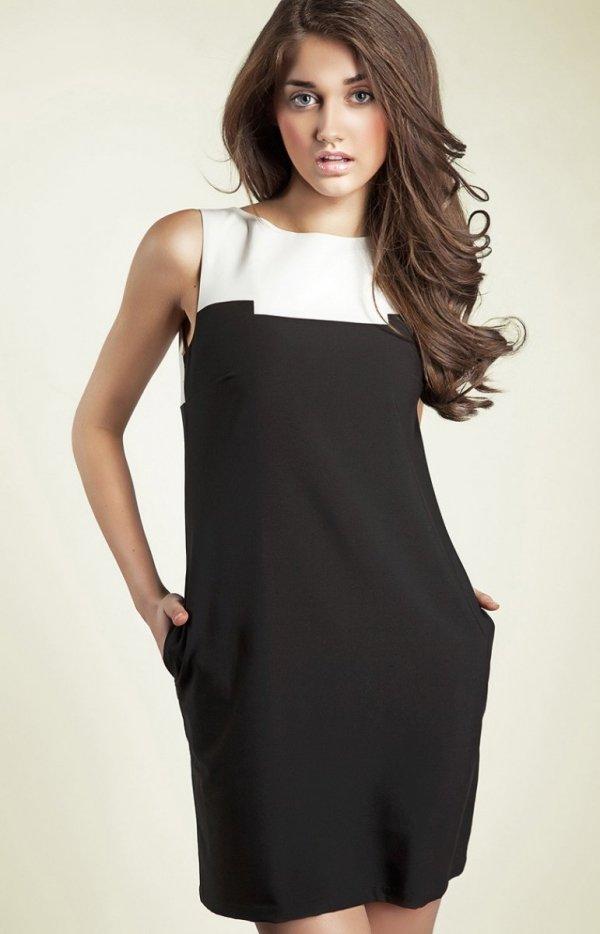Nife s25 sukienka czarna