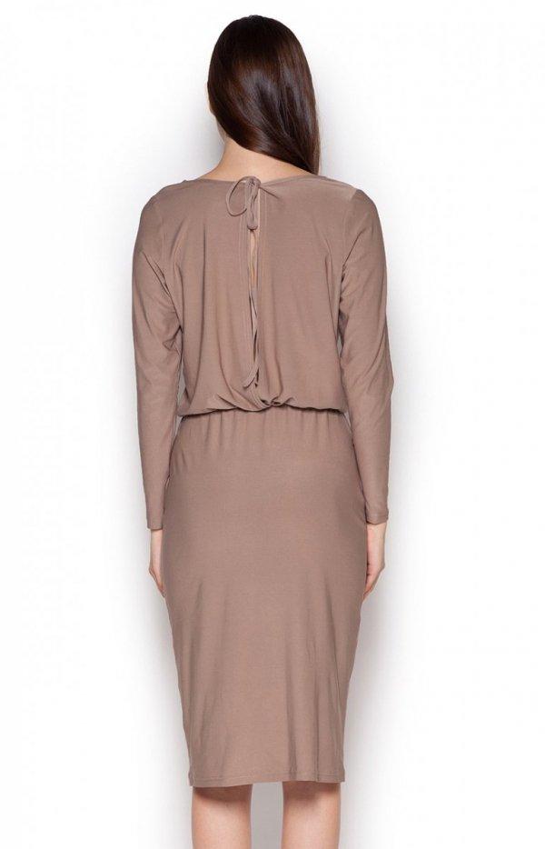 Figl M326 sukienka beż