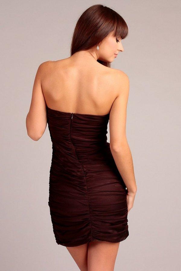 Vera Fashion Brigitte sukienka brąz