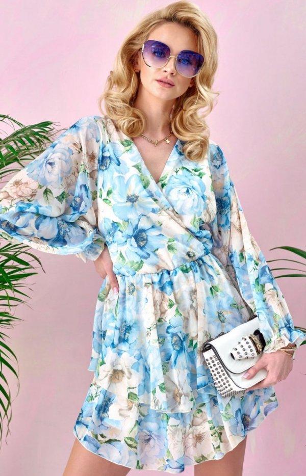 Sukienka z kopertowym dekoltem 0331/U48