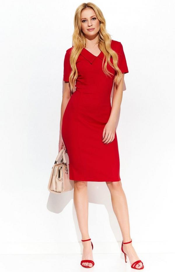 Makadamia M411 sukienka czerwona