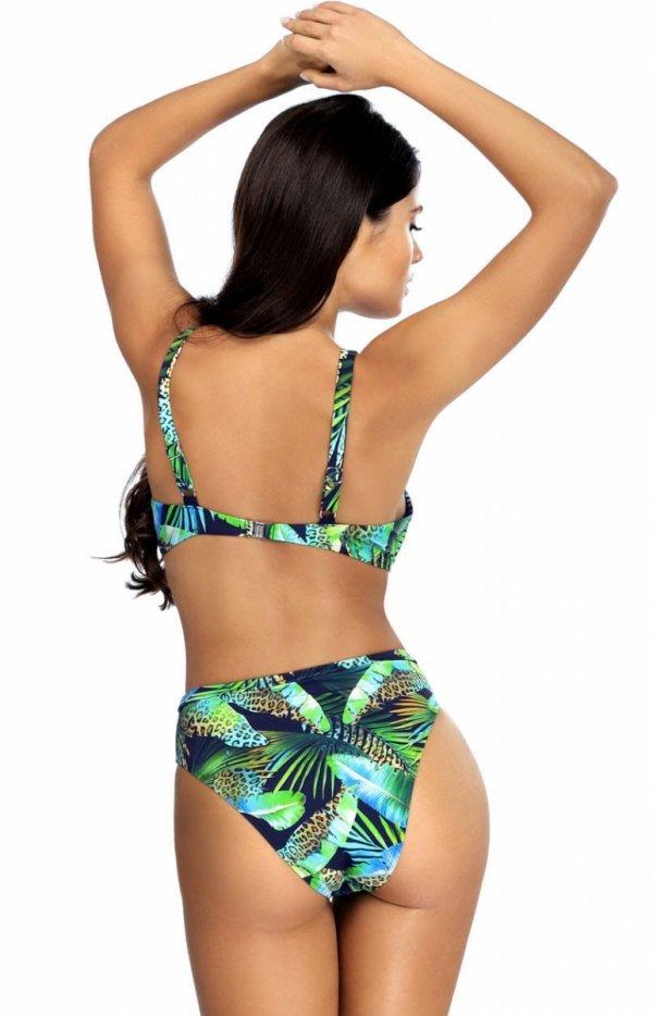 Kolorowy dwuczęściowy kostium kąpielowy L2340 tył