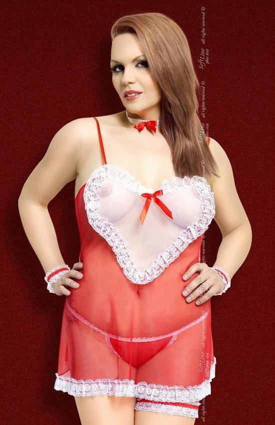 Softline Lola MAXI kostium czerwony