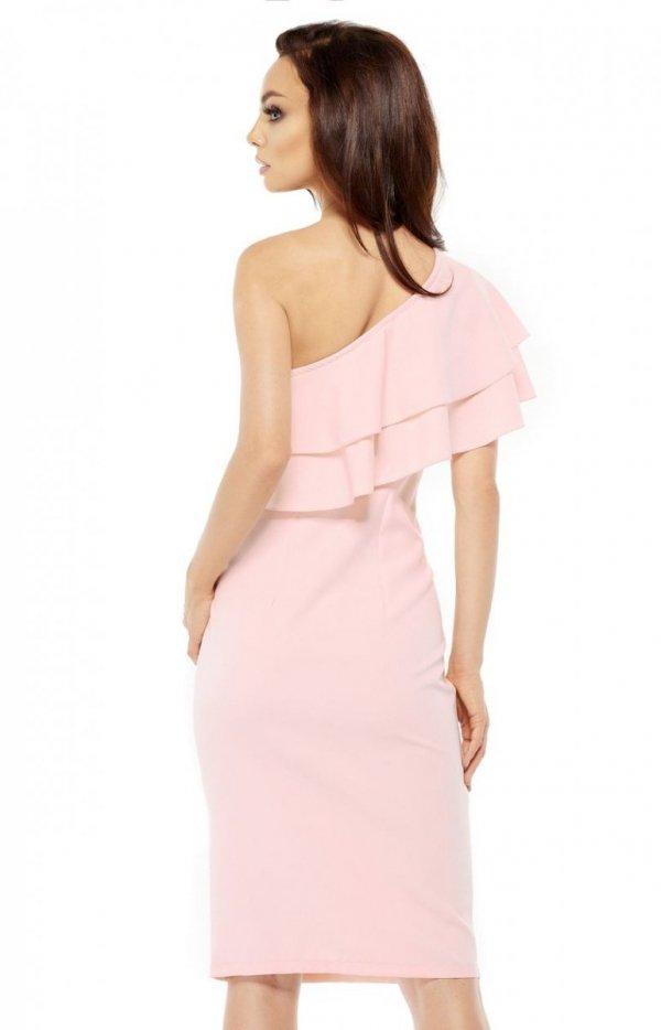 Lemoniade L254 sukienka pudrowy róż tył