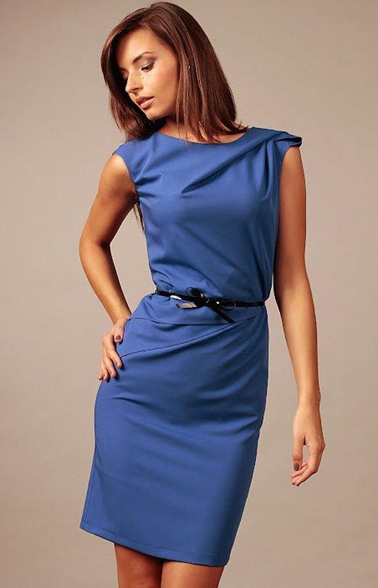 Vera Fashion Estera sukienka chabrowa
