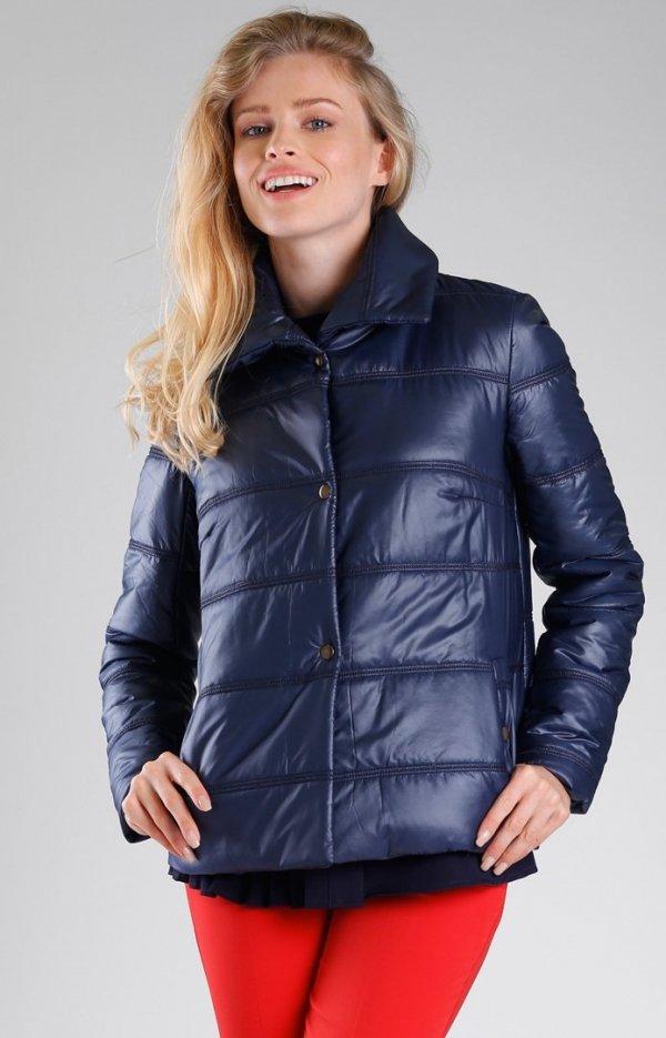 Granatowa pikowana kurtka NA082LP-1