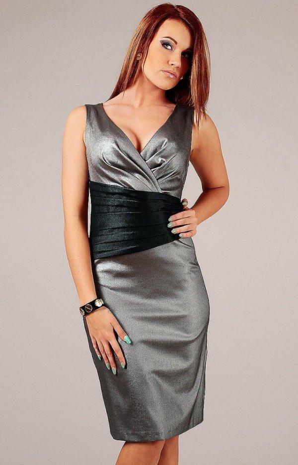 Vera Fashion Oriana sukienka srebrna
