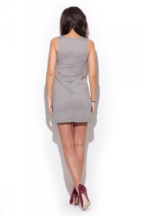 Katrus K243 sukienka szara