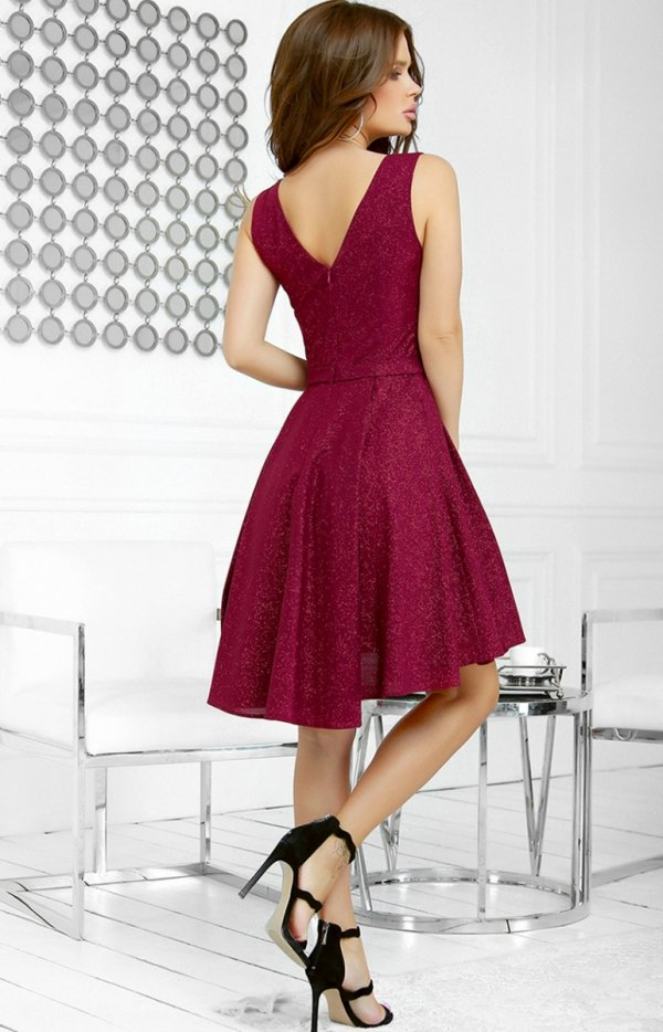 Elegancka błyszcząca sukienka 2215-10 tył