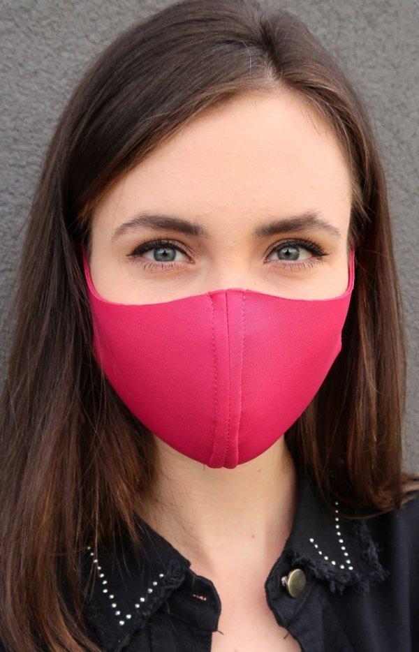 Różowa maseczka ochronna-1