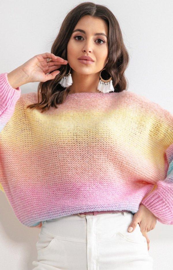 Pastelowy oversizowy sweter bali F1162-1