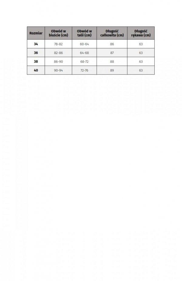 Bicotone 2160-10 sukienka rozkloszowana bordowa tabela