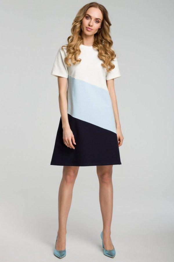Moe M373 sukienka błękitna