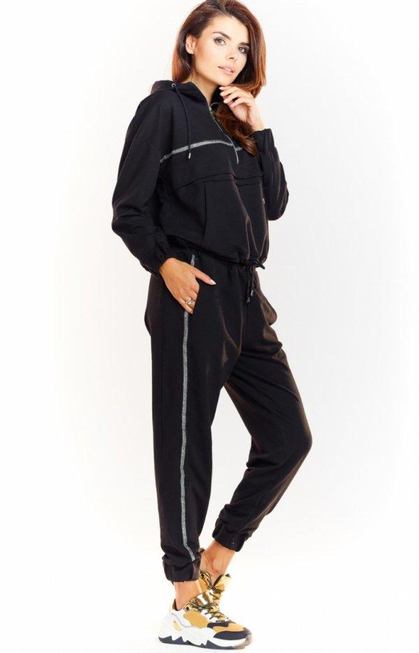 Sportowe spodnie czarne M231