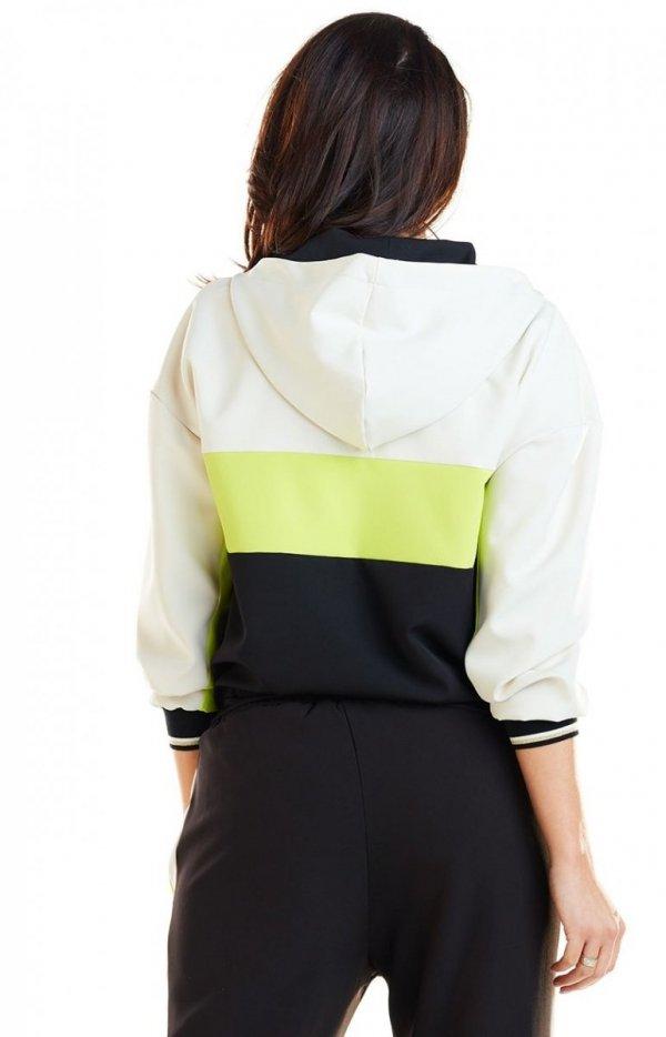 Kolorowa bluza damska limonka A265 tył
