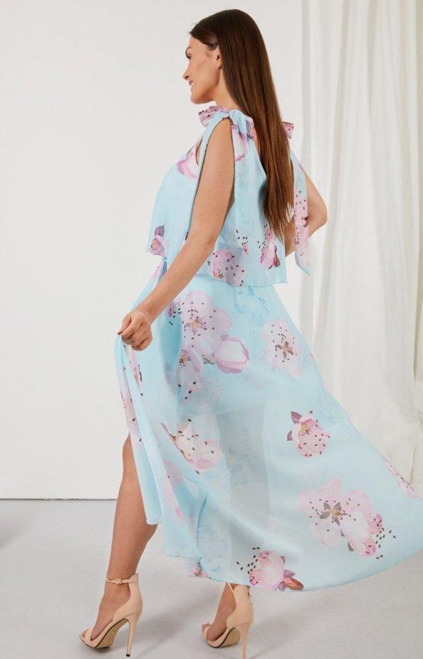 Asymetryczna sukienka maxi LG548/D18 tył