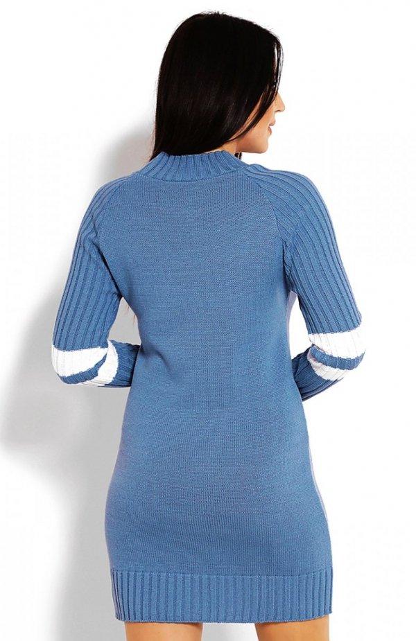PeekaBoo 70011 tunika sweterkowa niebieska tył