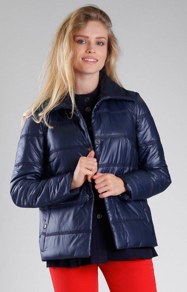 Granatowa pikowana kurtka NA082LP