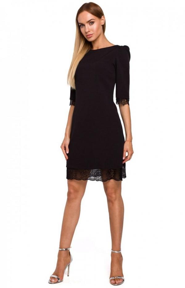Sukienka z odkrytymi plecami czarna Moe M489-1