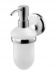 Dozownik mydła w płynie Bisk Sensation 03095 z mrożonego szkła w uchwycie metalowym