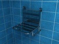 Krzesełko prysznicowe zawieszane na poręczy Makoinstal PSP 502