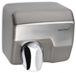 Suszarka do rąk Warmtec Barrel Flow PRO 2500W, automatyczna, srebrna ze stali nierdzewnej