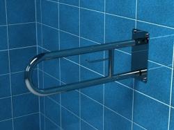 Poręcz dla niepełnosprawnych łukowa uchylna z miejscem na papier polerowana 60 cml PSP 660P