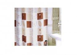 Zasłona prysznicowa tekstylna Bisk THESSA 06050