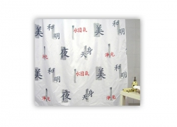 Zasłona prysznicowa tekstylna Bisk CHINA 00838