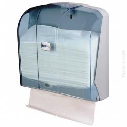 Pojemnik (podajnik) Faneco ZZ POP (P400PG-WT) na ręczniki papierowe w listkach, ścienny, plastikowy ABS