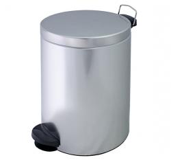 Metalowy kosz na śmieci KP 20-S ze stali nierdzewnej 20l z pedałem
