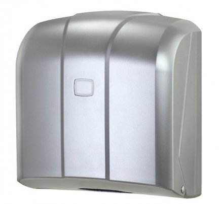 Pojemnik (podajnik) Faneco ZZ K4M na ręczniki papierowe w listkach, ścienny, plastikowy ABS,satynowy