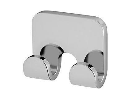 Metalowy wieszak łazienkowy Bisk Natura 04315 podwójny chromowany