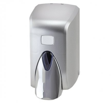 Dozownik (dystrybutor) mydła w płynie  (S5C) 0,5 litra z tworzywa ABS, srebrny