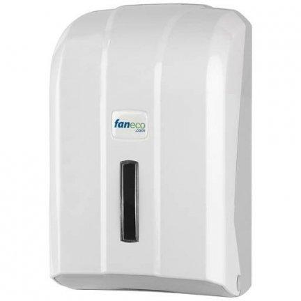 Pojemnik (podajnik) Faneco POP (TP400PGWG) na papier toaletowy w listkach, ścienny, plastikowy ABS