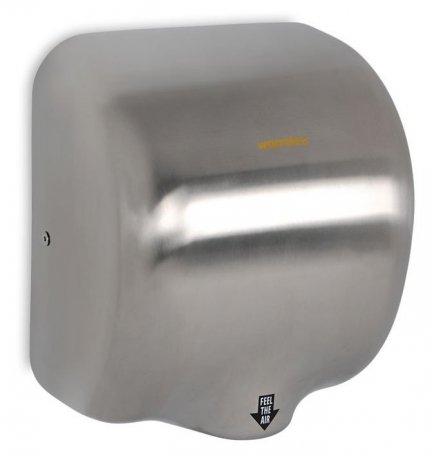 Suszarka do rąk Warmtec Airblader 1800W, automatyczna, srebrna (matowa) ze stali nierdzewnej