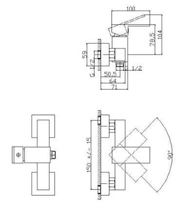 Bateria prysznicowa 00266 - NORD