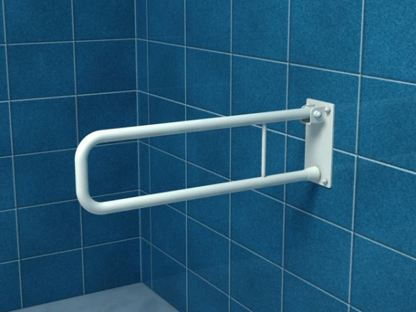 Poręcz uchylna łukowa dla niepełnosprawnych UR7 70 cm stal węglowa emaliowana
