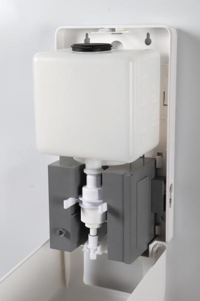 Automatyczny dozownik mydła w płynie i żelu do dezynfekcji