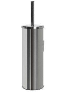 Zawieszana szczotka WC Bisk 71429 ze stali nierdzewnej z uchwytem ściennym i wymienną końcówką