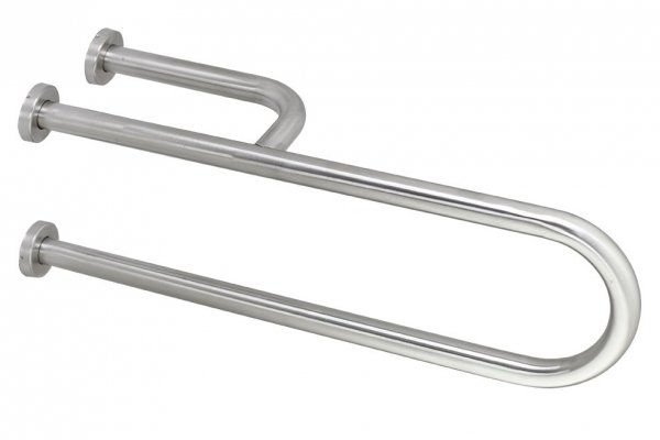 Umywalkowa poręcz łukowa dla niepełnosprawnych Linea Trade 136340 72cm prawa stal nierdzewna