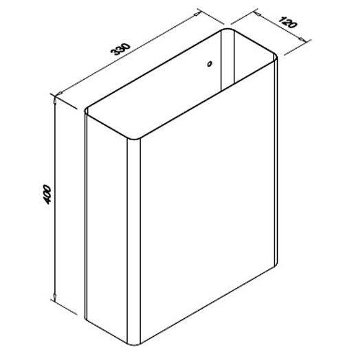 Stalowy kosz naścienny Faneco WB16SMB poj. 16l na ręczniki papierowe