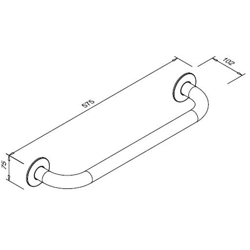 Poręcz prosta dla niepełnosprawnych Faneco S32UP5 SW B 50cm stal węglowa emaliowana