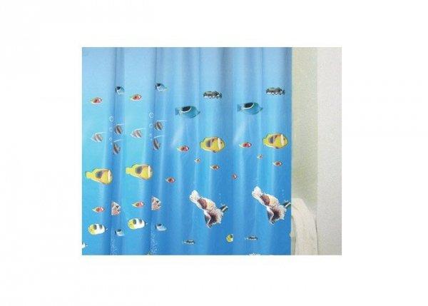 Zasłona prysznicowa Bisk PEVA SEA HORSE 00074 180x200 cm