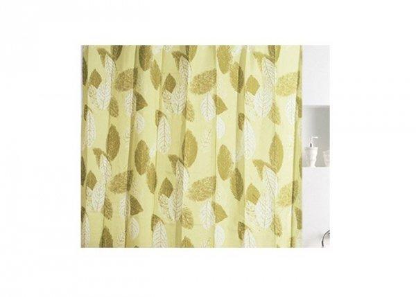 Zasłona prysznicowa tekstylna Bisk LEAVES 00832