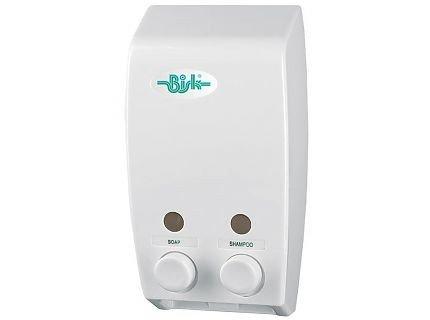 Dozownik (dystrybutor) mydła w płynie Bisk Masterline (00174) podwójny 2 x 0,4 litra z tworzywa ABS