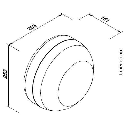 Podajnik na papier Jumbo COSMO biały Faneco LCP5006B